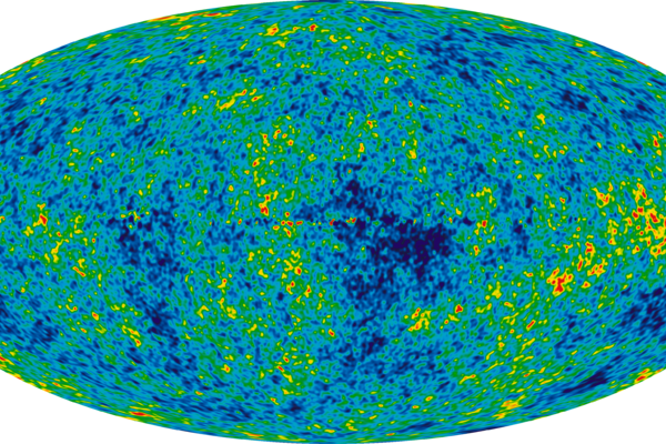 The Cosmic Microwave Background temperature fluctuations from the 7-year Wilkinson Microwave Anisotropy Probe data seen over the full sky.