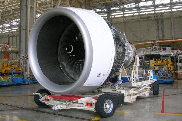 A Rolls-Royce Trent900 Jet Engine