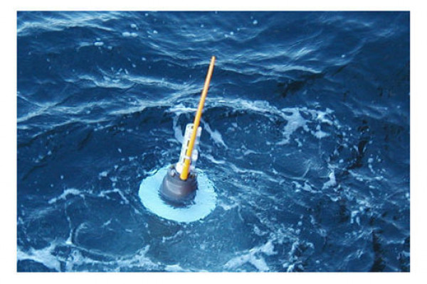 Argo floats only spend a short time at the surface, while they send data to a satellite. They then sink to 1500m and drift with the current.