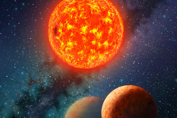 The planetary system harboring Kepler-138 b, the first exoplanet smaller than Earth with both its mass and size measured.