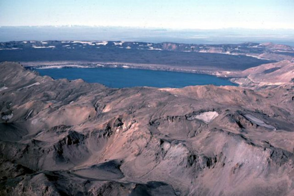 Photo of caldera of Askja Volcano