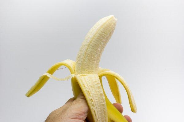 A peeled banana