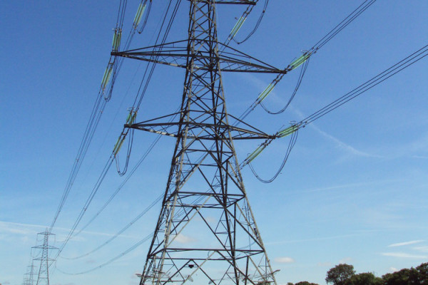 A 400kV pylon part of the UK National Grid