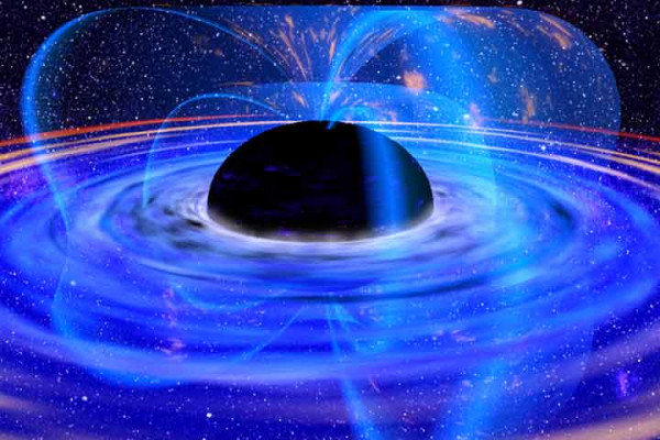 A black hole concept drawing by NASA.