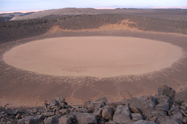 Impact crater in Algeria