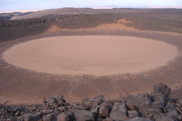Impact crater in Algeria