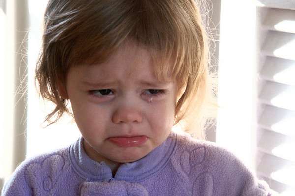 A crying toddler
