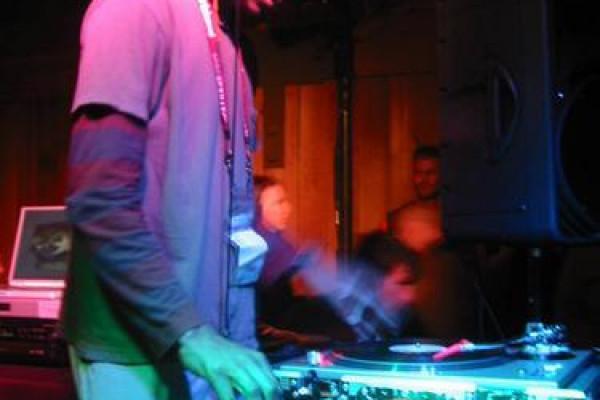 DJ Spooky at the Sundance Film Festival, 2003.