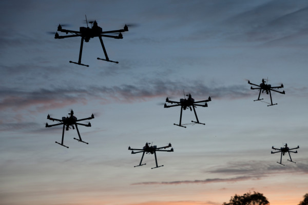 Drone swarms