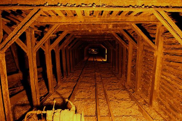 A mine shaft