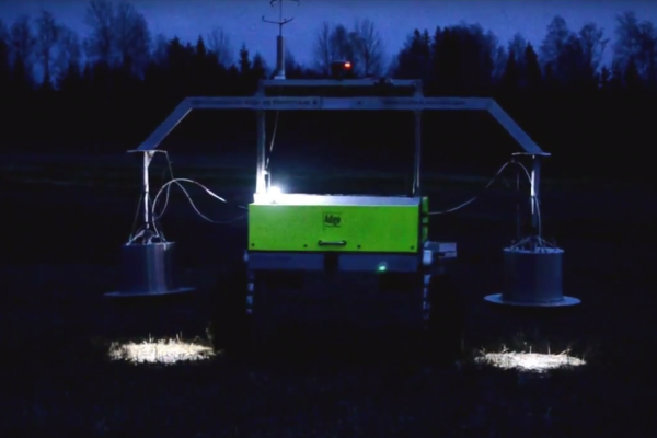 The Field Flux prototype can measure the amount of the greenhouse gas nitrous oxide in agricultural fields.