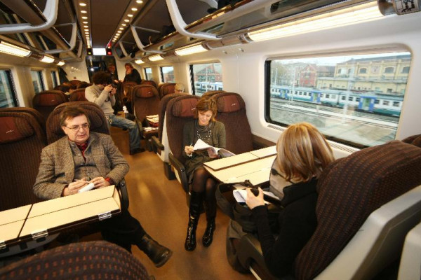 Train carriage seating