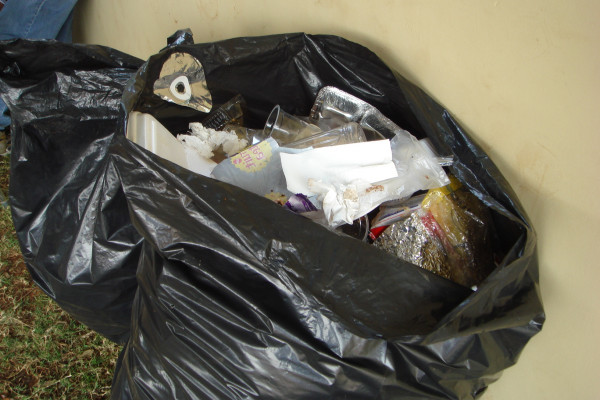 A typical bin bag from the UK