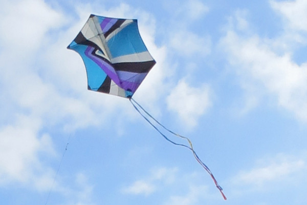 Kite used by scientists to map Hawaiian lava flows