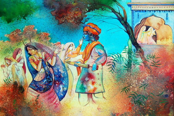 Holi kele nanda lala_Hindu Ceremony_One of Holi's biggest customs is the loosening strictness of social structures, which normally include age, gender, status, and caste.
