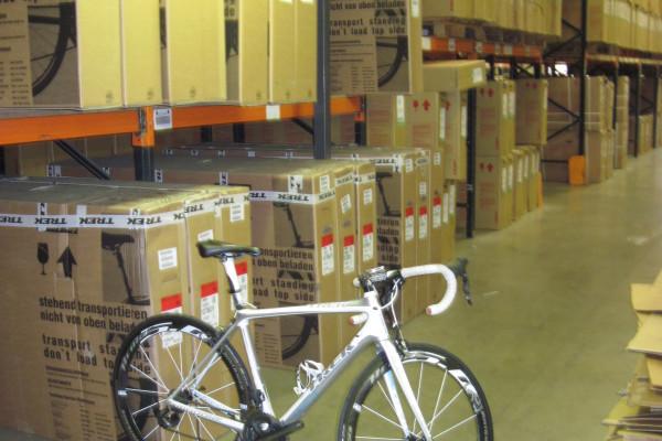 TREK Madone bike in the warehouse
