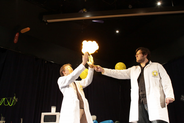 Hydrogen Bubbles - Crisp Packet Fireworks at the MTN Sciencentre, Cape Town