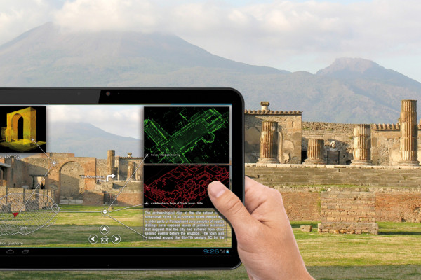 Cultural heritage site visitors could point their mobile devices at specific points to learn more.