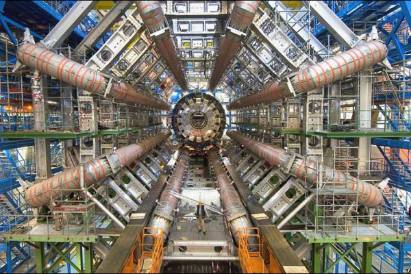 ATLAS (A Toroidal LHC ApparatuS),one of the six particle detector experiments (ALICE, ATLAS, CMS, TOTEM, LHCb, and LHCf) being constructed at the Large Hadron Collider (LHC) in 2007.