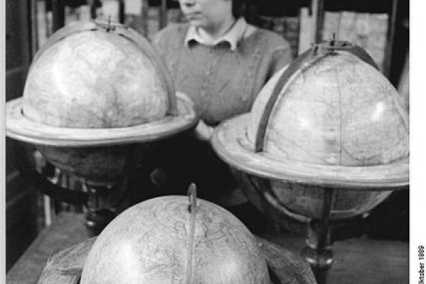 Leipzig central library globe collection