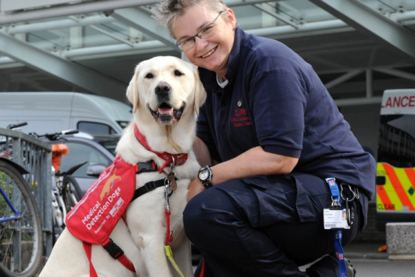 Claire and Medical Alert Assistance Dog 'Magic'.