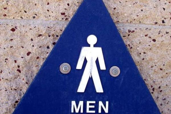 Symbol for the men's restroom