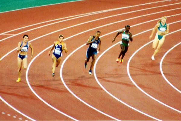 Womens' 200m race