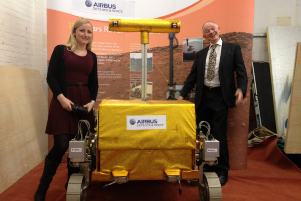 A prototype Mars rover on location at Airbus Defence & Space in Stevenage.
