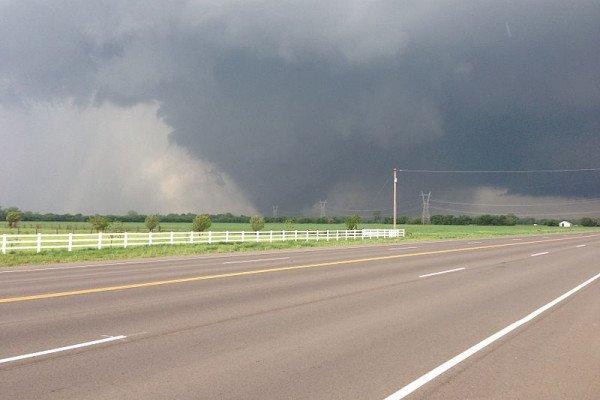The 2013 Oklahoma City tornado as it passed through south Oklahoma City.