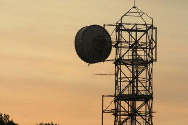 microwave telecommunication tower