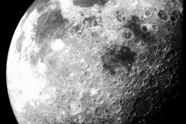 The moon taken by Appolo 12