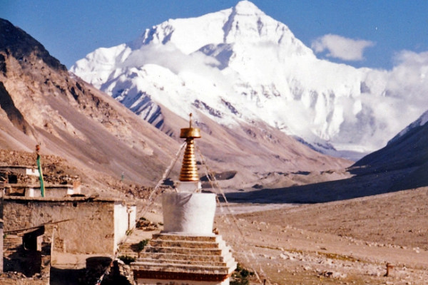 Mount Everest from Rombok Gompa, Tibet