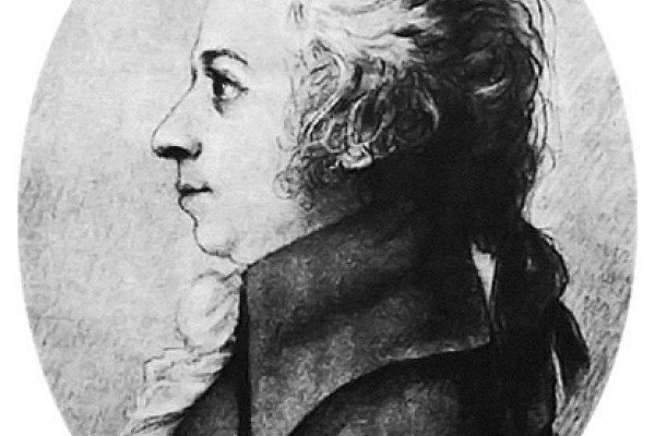 Mozart drawing by Doris Stock, 1789