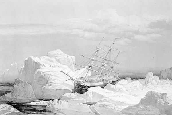 Critical position of HMS Investigator on the north coast of Baring Island, Northwest Territories