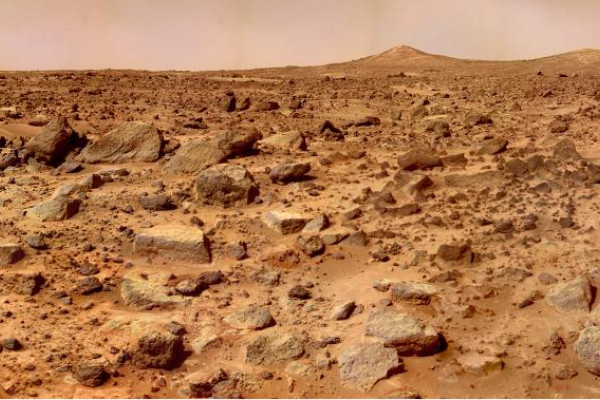 The Martian Landscape, as photographed by the Mars Pathfinder Lander