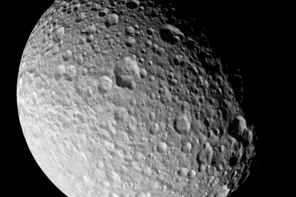 Saturn's Moon Mimas taken by the Cassini mission