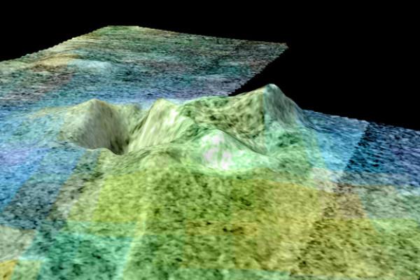 Ice volcano on Titan