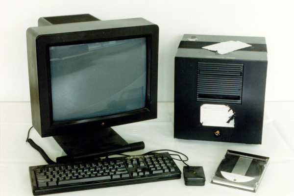 The NeXT Computer used by Berners-Lee as the world's first Web server and also to write the first Web browser, WorldWideWeb, in 1990.