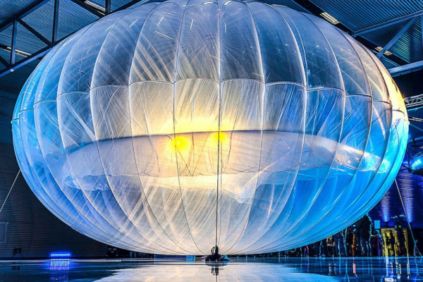 Balloon used as part of Project Loon