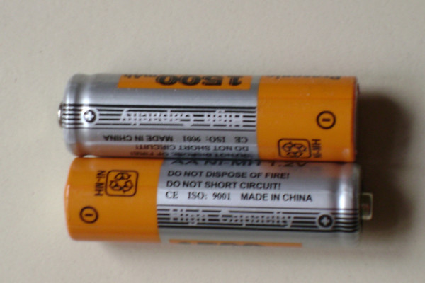 Picture of rechargeable batteries.