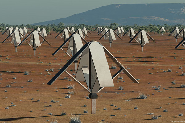 Artist's impression of a 100m diameter low frequency Sparse Aperture Array.