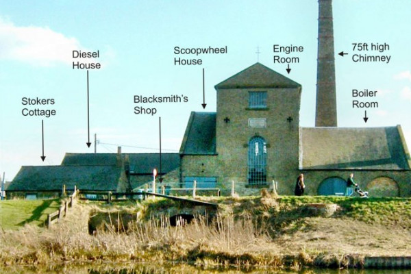 THE EARLIEST AND FINEST EXAMPLE OF A LAND DRAINAGE STEAM ENGINE ERECTED IN 1831 AT STRETHAM, CAMBRIDGESHIRE, UK