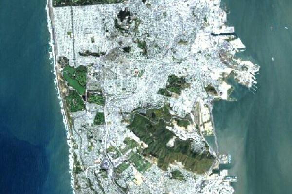 San Francisco, California. As seen by the Landsat 7 program.