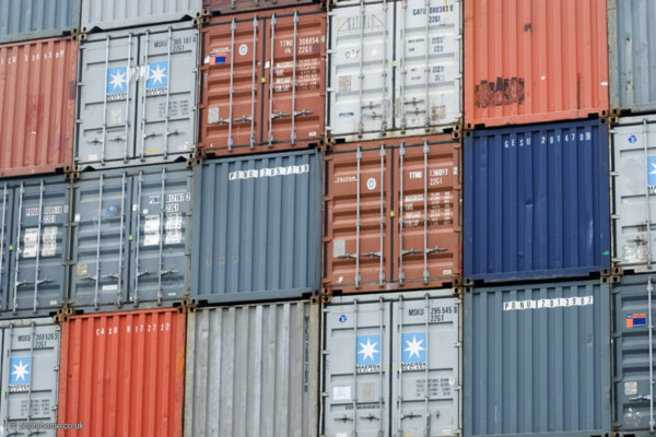 Shipping containers at clyde