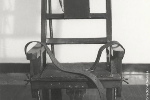 \Old Sparky\, the electric chair from Sing-Sing prison