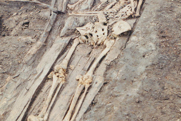Skeleton from the middle ages