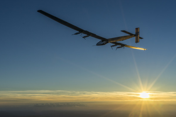 Sun powered jet Solar Impulse on its global solar flight