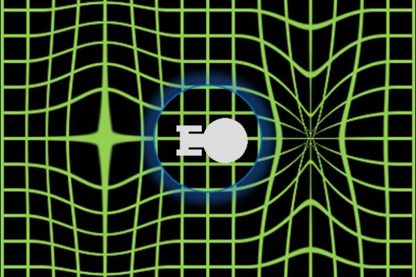A visualization of a warp field