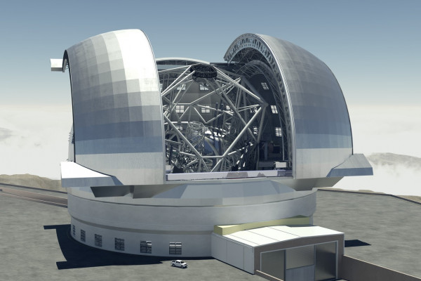 The European Extremely Large Telescope, or E-ELT