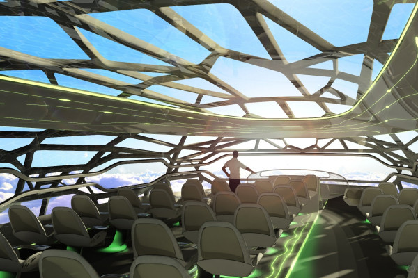 Airbus prediction of the cabin of an aircraft of the future